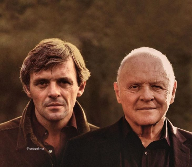 Anthony Hopkins como adulto joven por Ard Gelinck