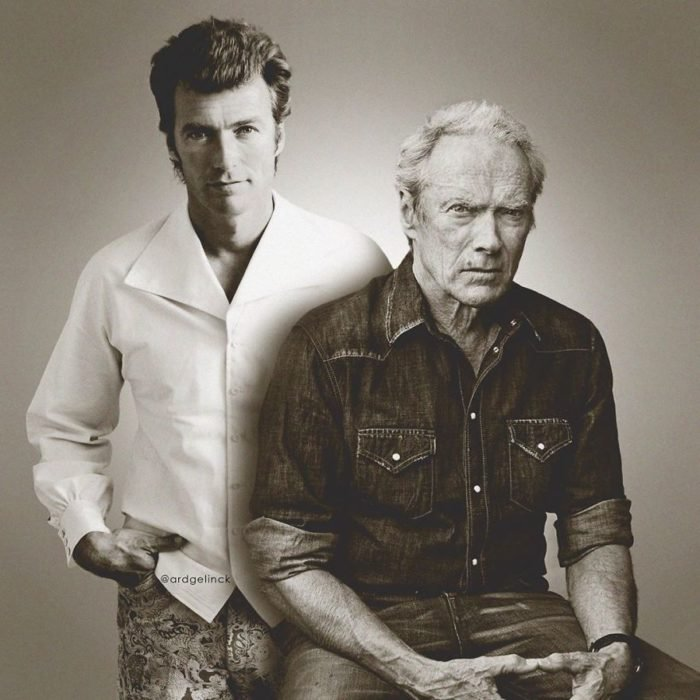 Clint Eastwood Young & Adult por Ard Gelinck