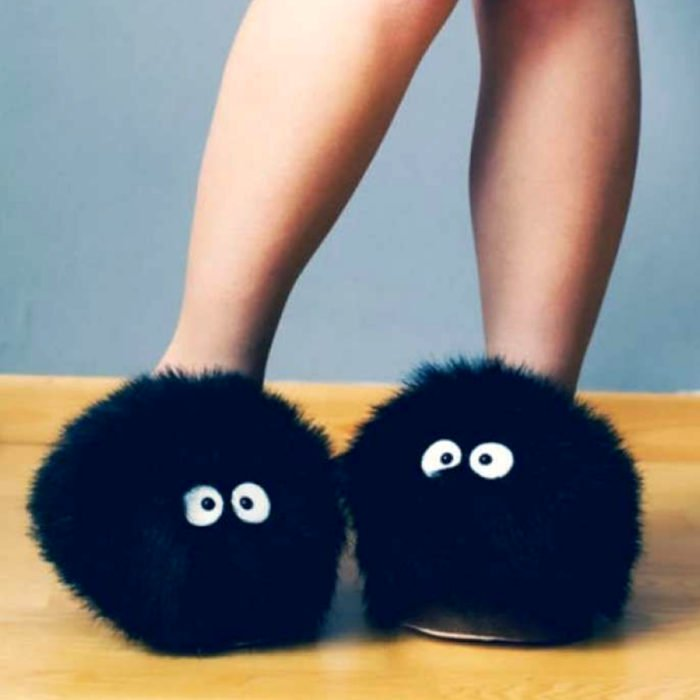 Bonitas zapatillas kawaii; Calzado Susuwatari de My Neighbor Totoro