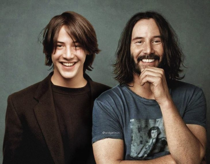 Keanu Reeves Young & Adult por Ard Gelinck