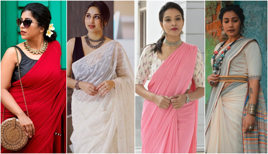Beat the Monsoon Humidity With Your Favorite Cotton And Linen Sarees In Stylish Ways
